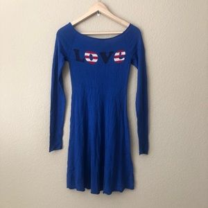 Betsy Johnson love sweater dress